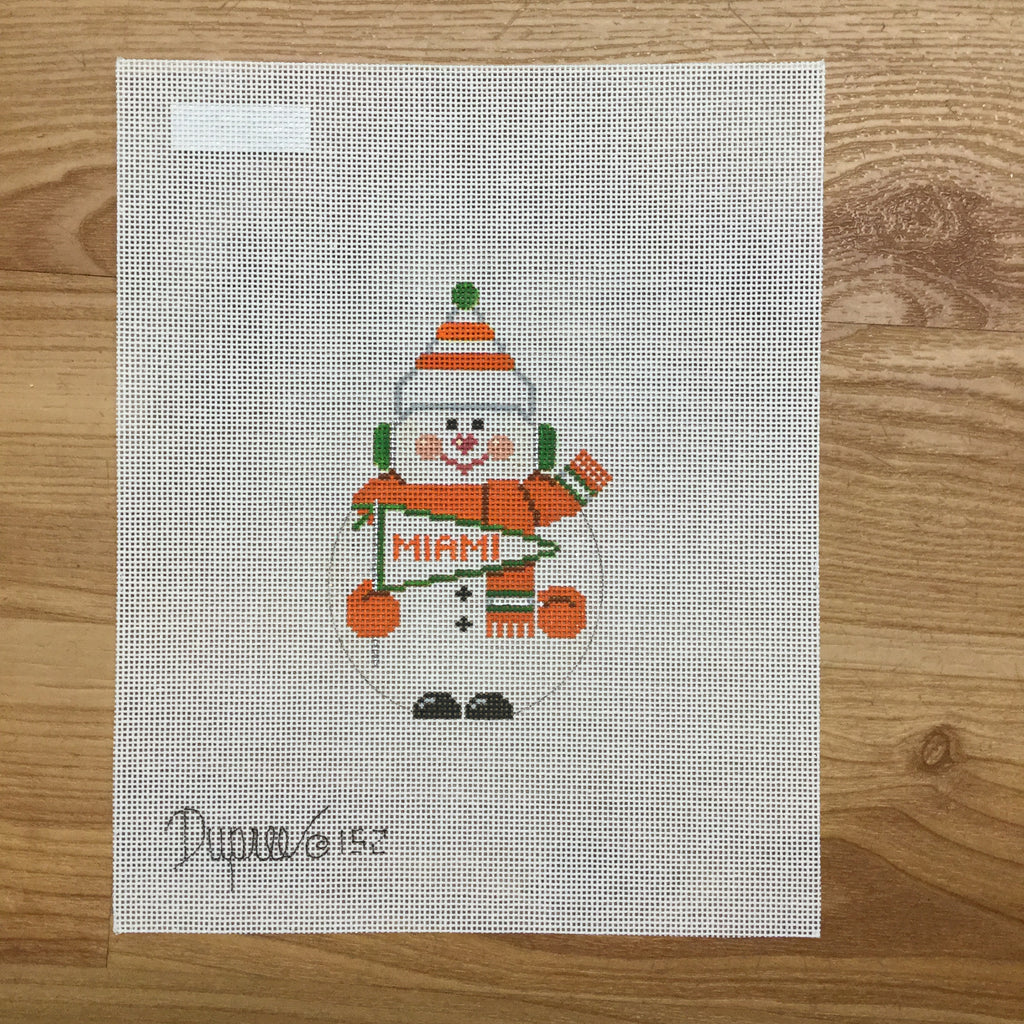 Miami Snowman Canvas-Needlepoint Canvas-Carol Dupree-KC Needlepoint