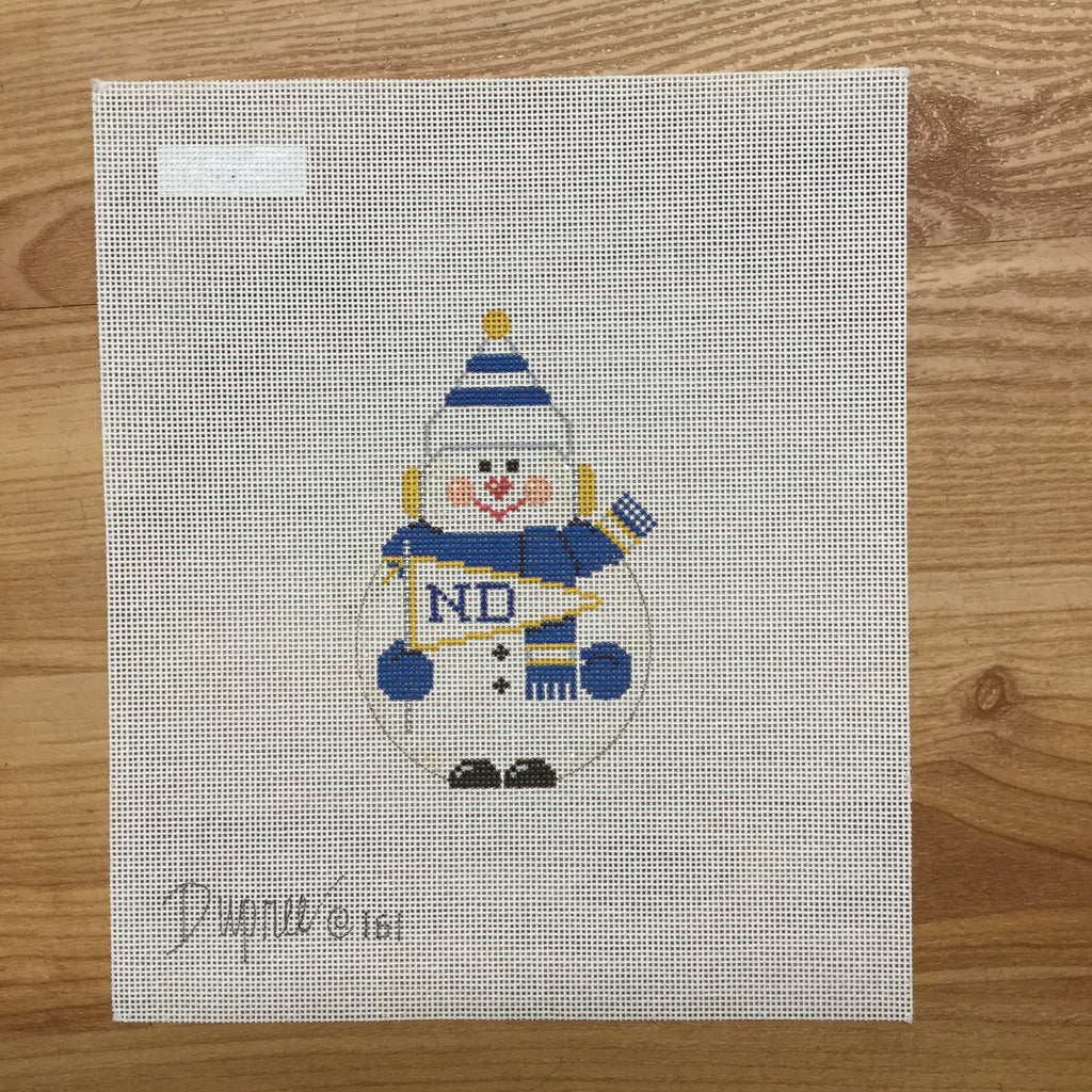 Notre Dame Snowman Canvas - KC Needlepoint