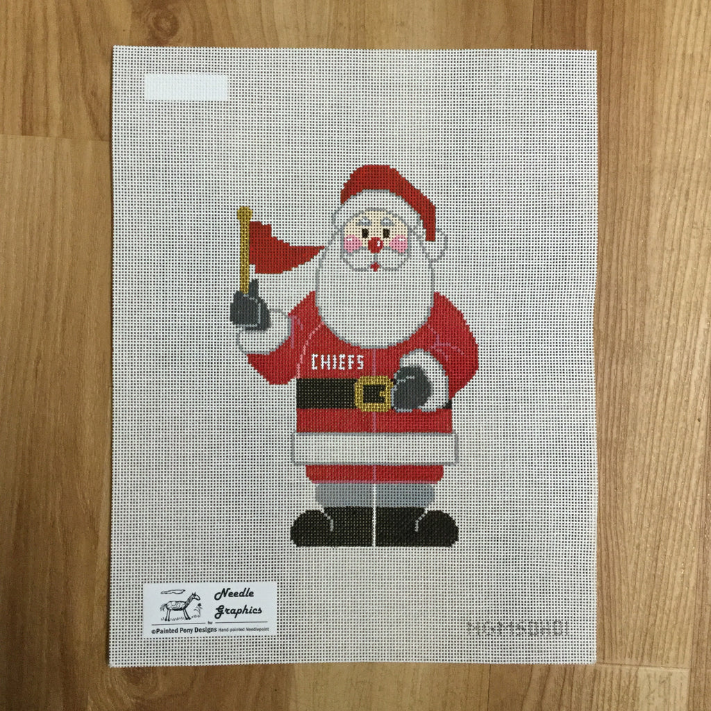 Chiefs Santa Canvas