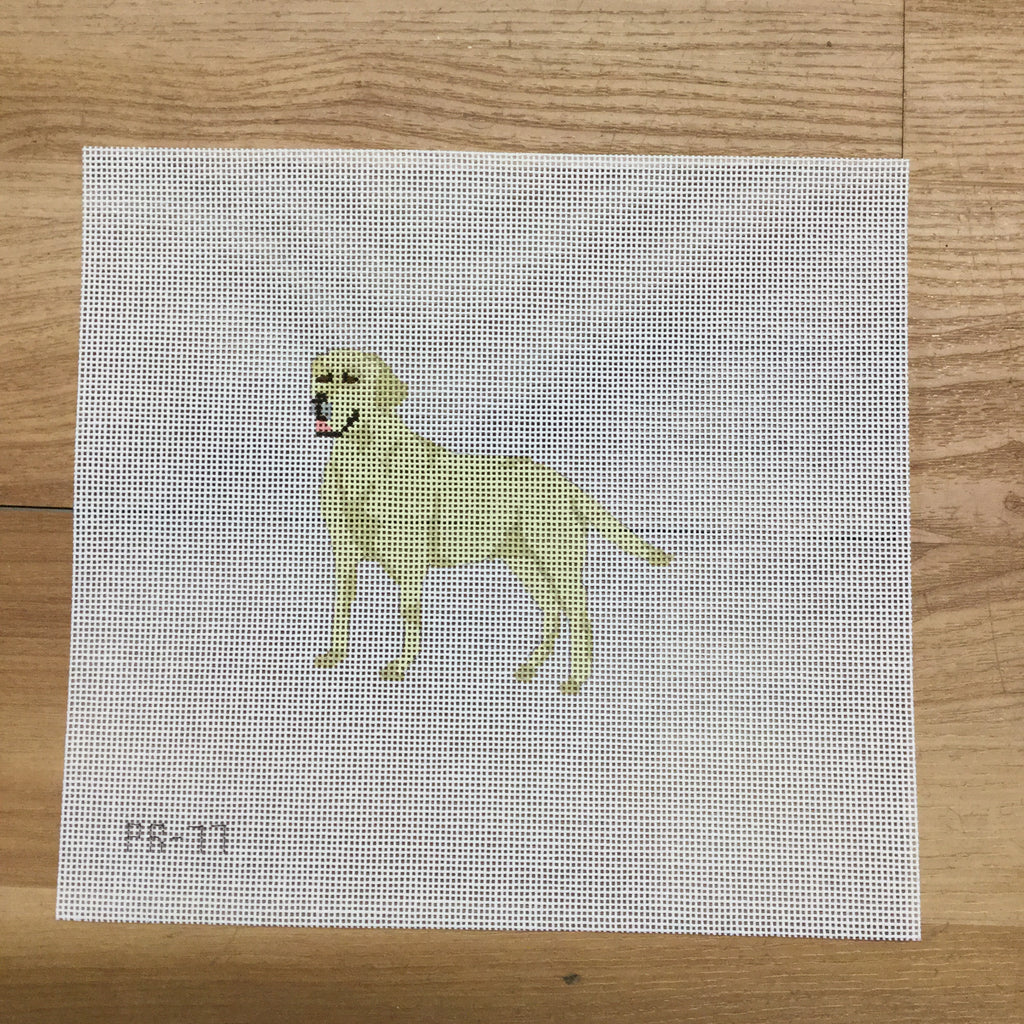 Yellow Lab Canvas-Needlepoint Canvas-Pip and Roo Needleworks-KC Needlepoint
