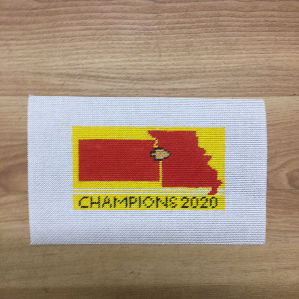 Missouri Kansas Champions 2020 - needlepoint