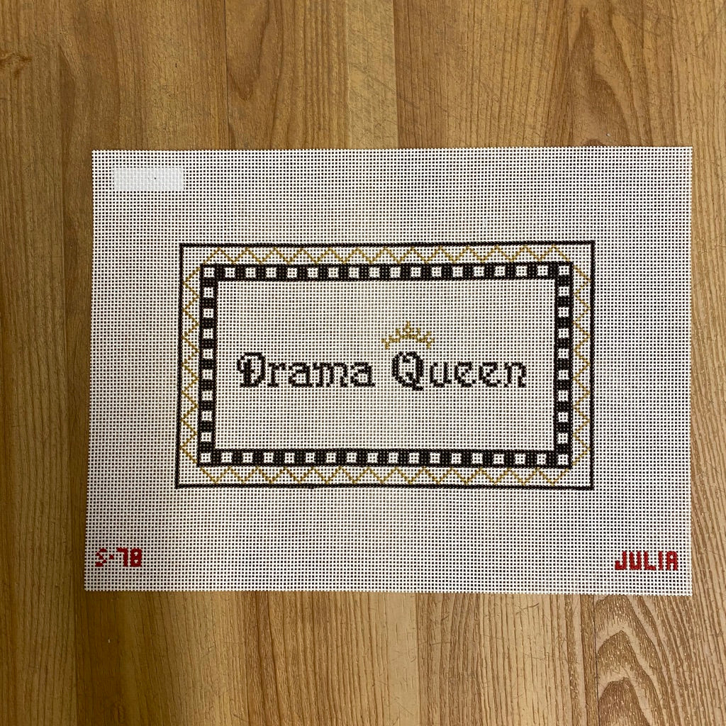 Drama Queen Canvas-Needlepoint Canvas-KC Needlepoint