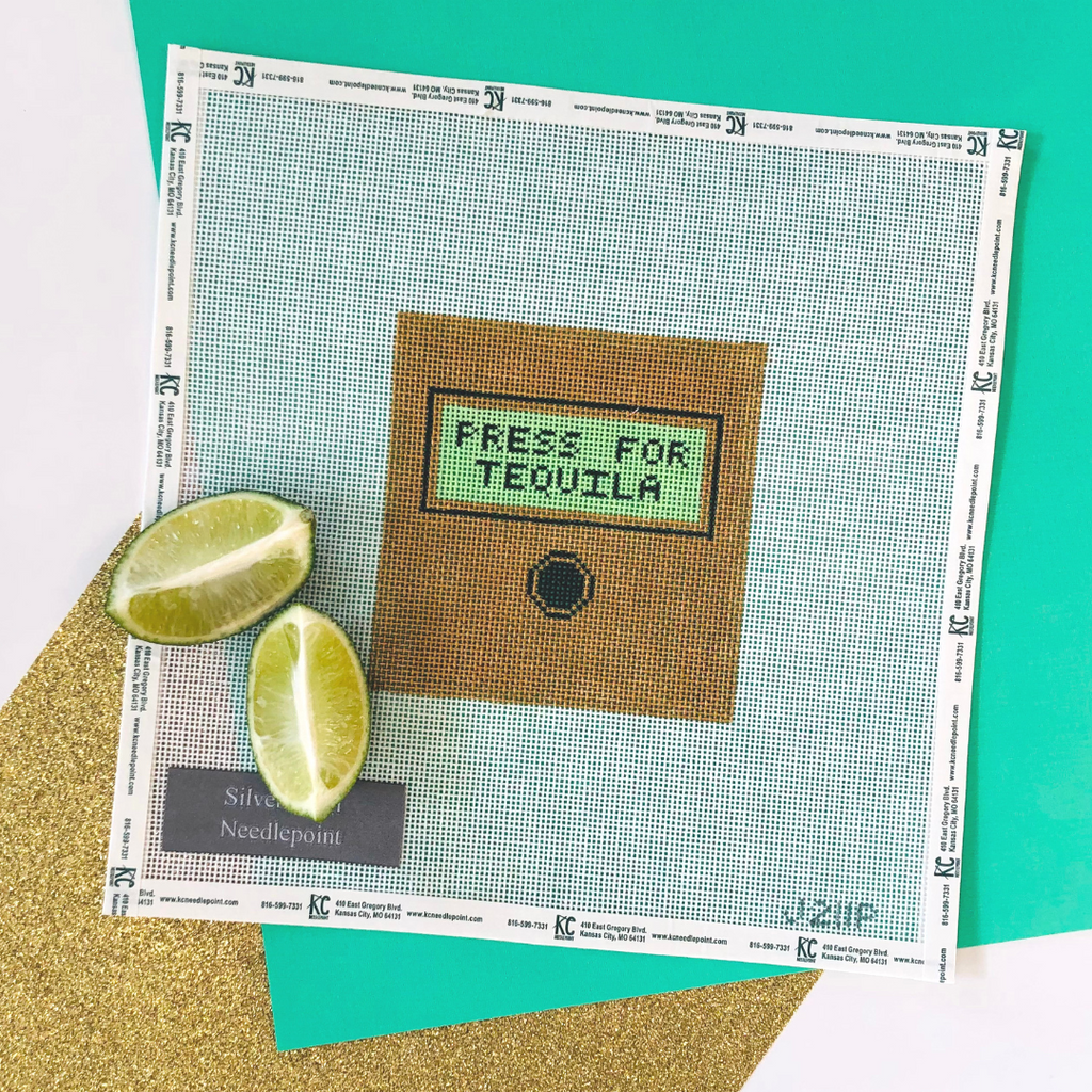 Press for Tequila Canvas - KC Needlepoint