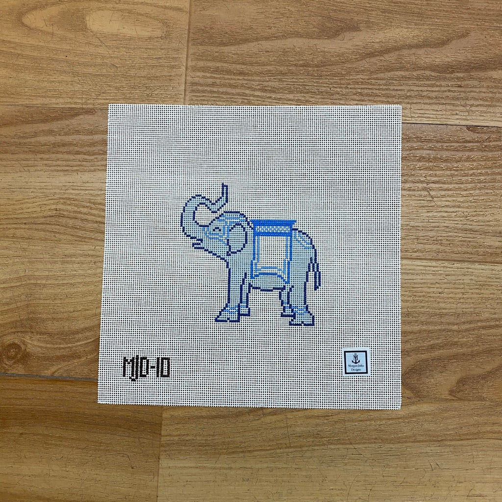 Elephant Ornament Canvas - needlepoint