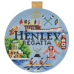 Henley Regatta Travel Round Canvas-Needlepoint Canvas-Kirk & Bradley-KC Needlepoint