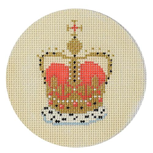 Royal Crown Round Canvas
