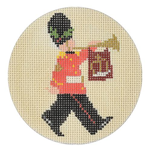 Queen's Guard Round Canvas