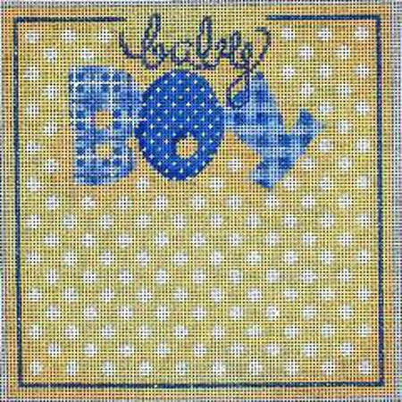 Baby Boy Sampler Needlepoint Canvas - needlepoint