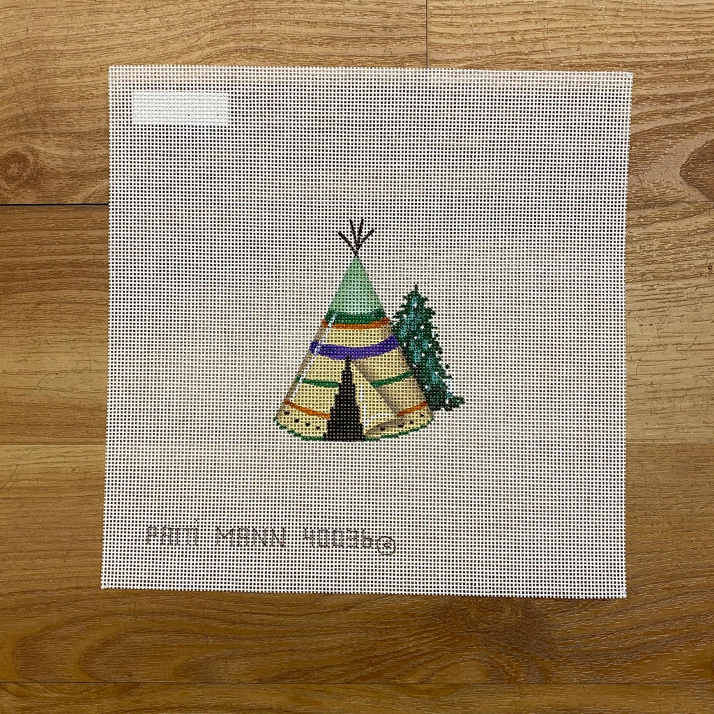 Christmas Teepee Canvas - needlepoint