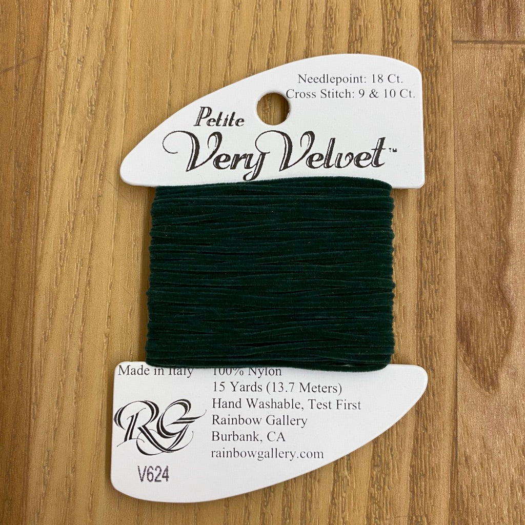 Petite Very Velvet V624 Midnight Green - KC Needlepoint