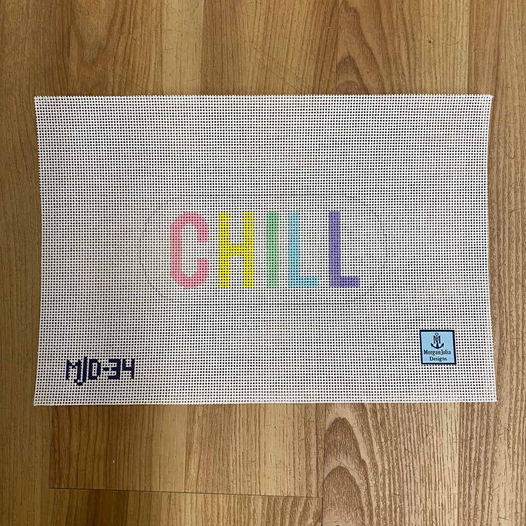 Pastel Chill Pill Canvas - needlepoint