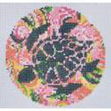 Sea Turtle Ornament Canvas-Needlepoint Canvas-Danji Designs-KC Needlepoint