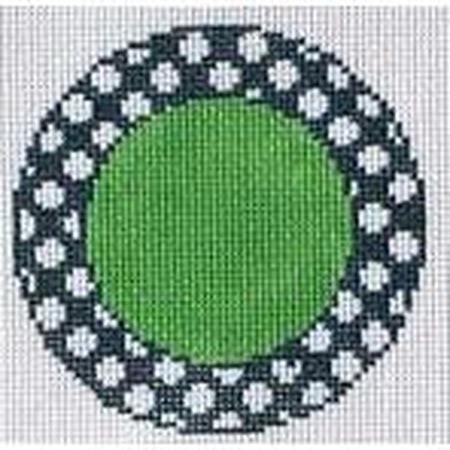 Blue & White Round Canvas - needlepoint