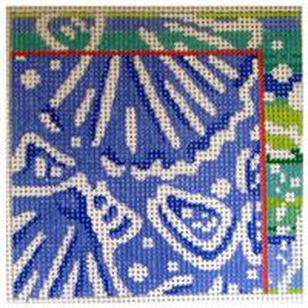 Shell Square Canvas - needlepoint