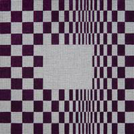 Maroon and White Geometric Needlepoint Canvas