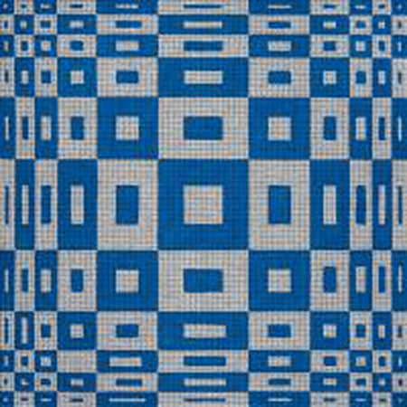 Blue and White Geometric Needlepoint Canvas