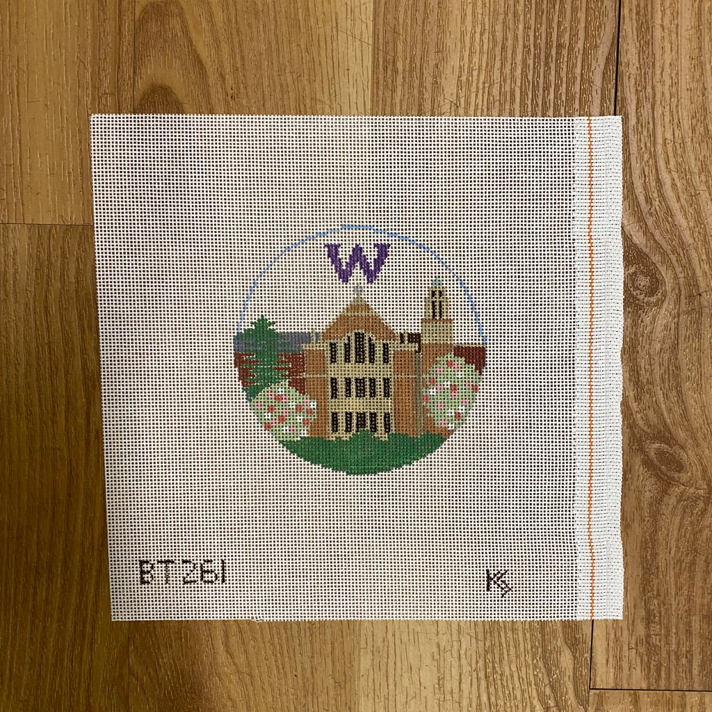 University of Washington Round Canvas