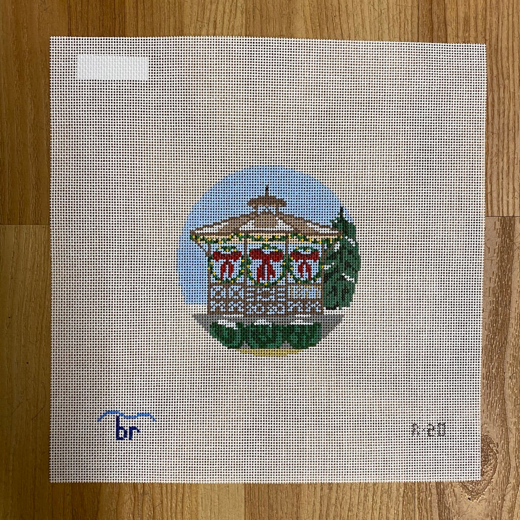 Small Town Gazebo Canvas - needlepoint