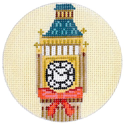 Big Ben Travel Round Canvas-Needlepoint Canvas-Kirk & Bradley-KC Needlepoint