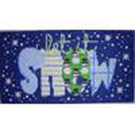 Let It Snow Canvas - needlepoint