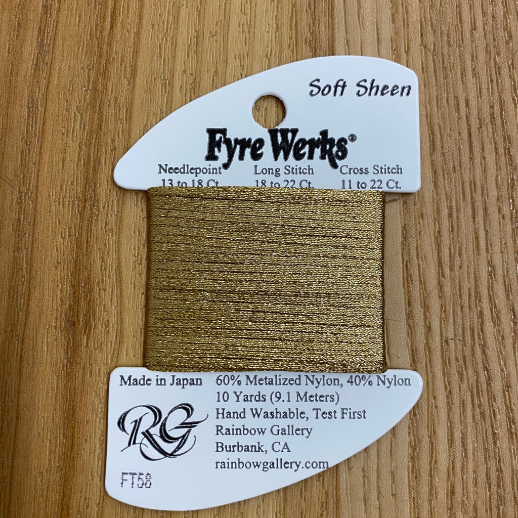 Fyre Werks Soft Sheen FT58 Gold - needlepoint