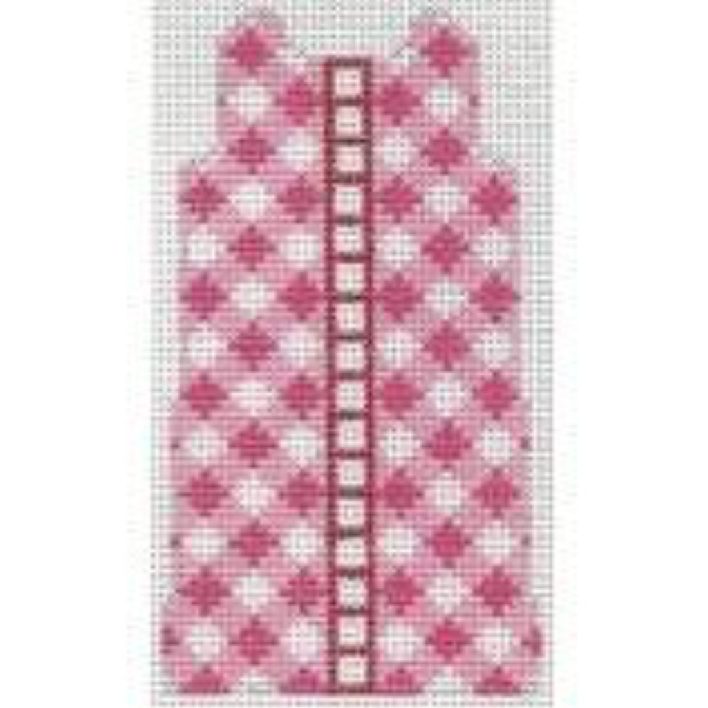 Pink Gingham Shift Canvas - needlepoint