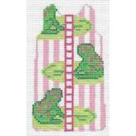 Frogs Shift Canvas-Needlepoint Canvas-Barbara Bergsten-14 mesh-KC Needlepoint
