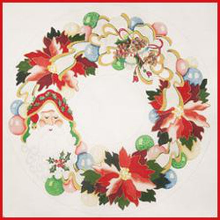 Christmas Wreath Canvas-Needlepoint Canvas-Strictly Christmas-KC Needlepoint
