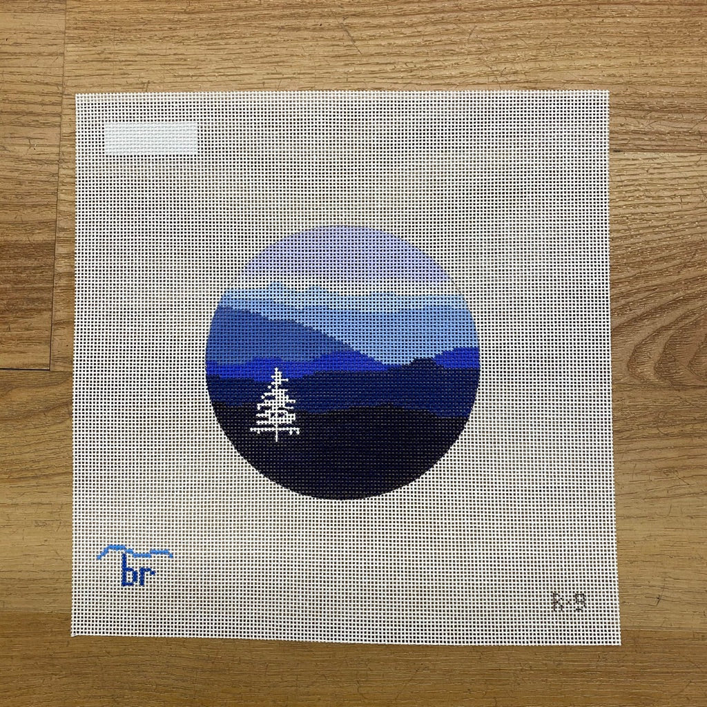 Blue Ridge Christmas Canvas - needlepoint