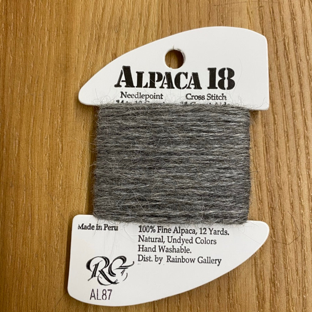Alpaca 18 AL87 Heather Gray - needlepoint