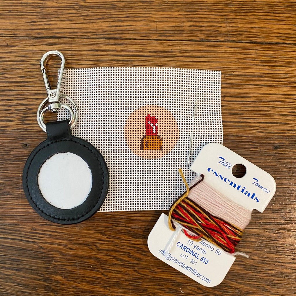 Lipstick Key Fob Kit-Needlepoint Kit-KC Needlepoint