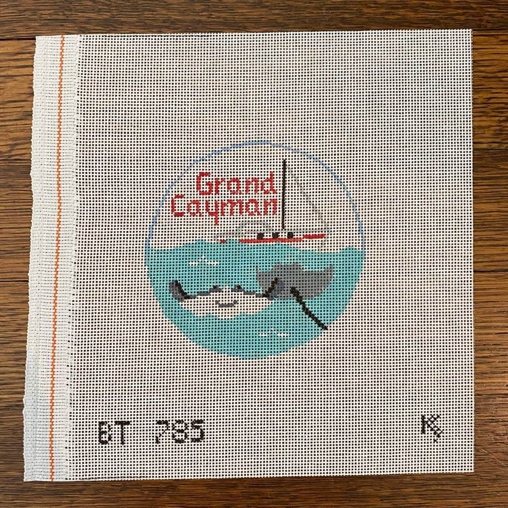 Grand Cayman Travel Round Canvas