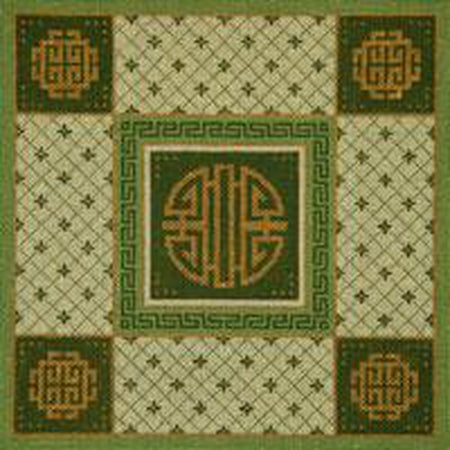 Green Asian Needlepoint Canvas