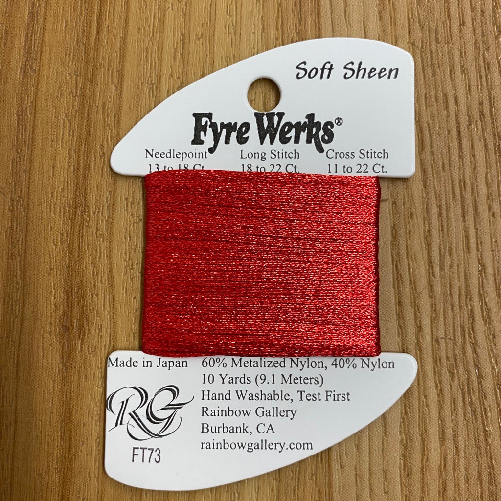 Fyre Werks Soft Sheen FT73 Christmas Red