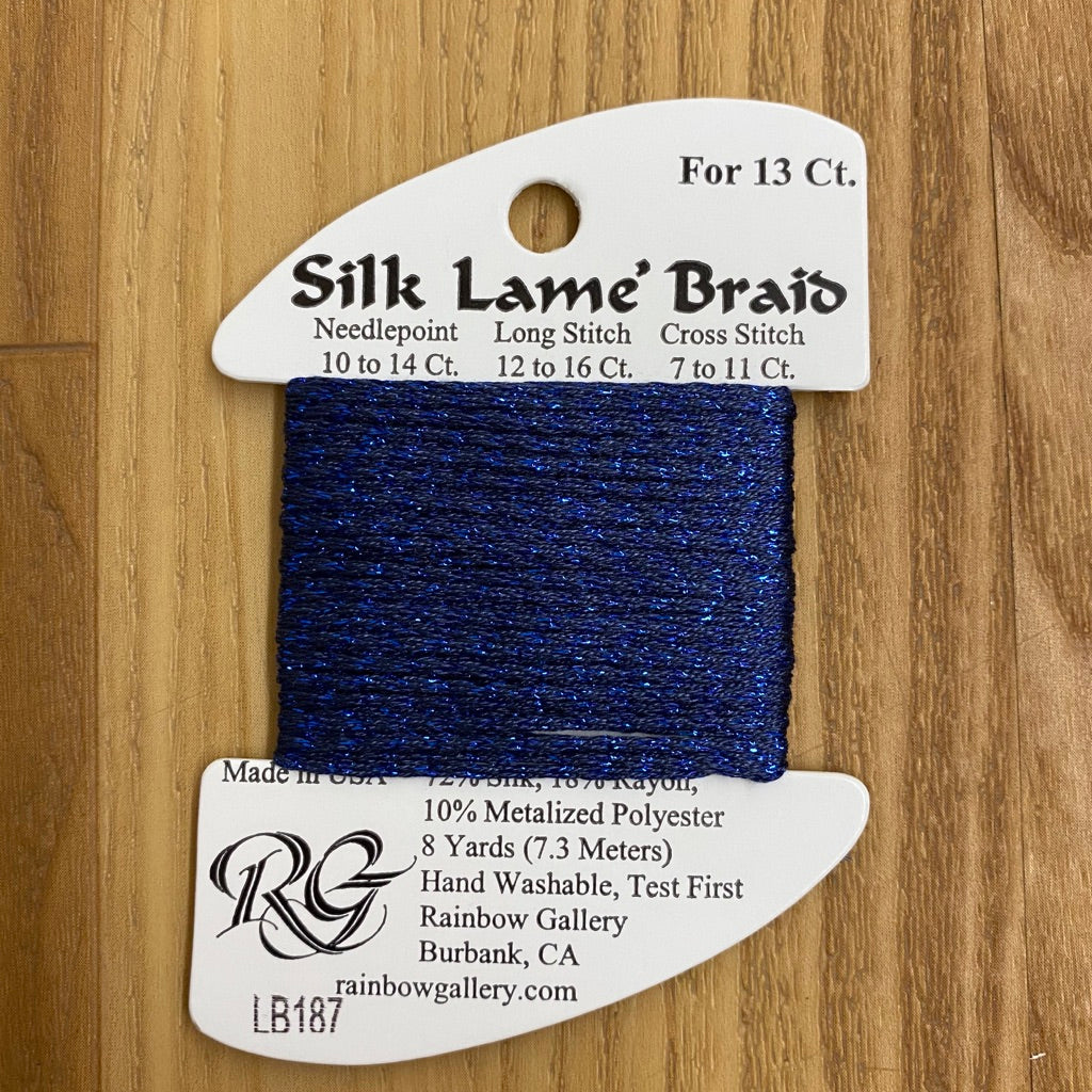 Silk Lamé Braid LB187 Mood Indigo-Silk Lamé Braid-KC Needlepoint