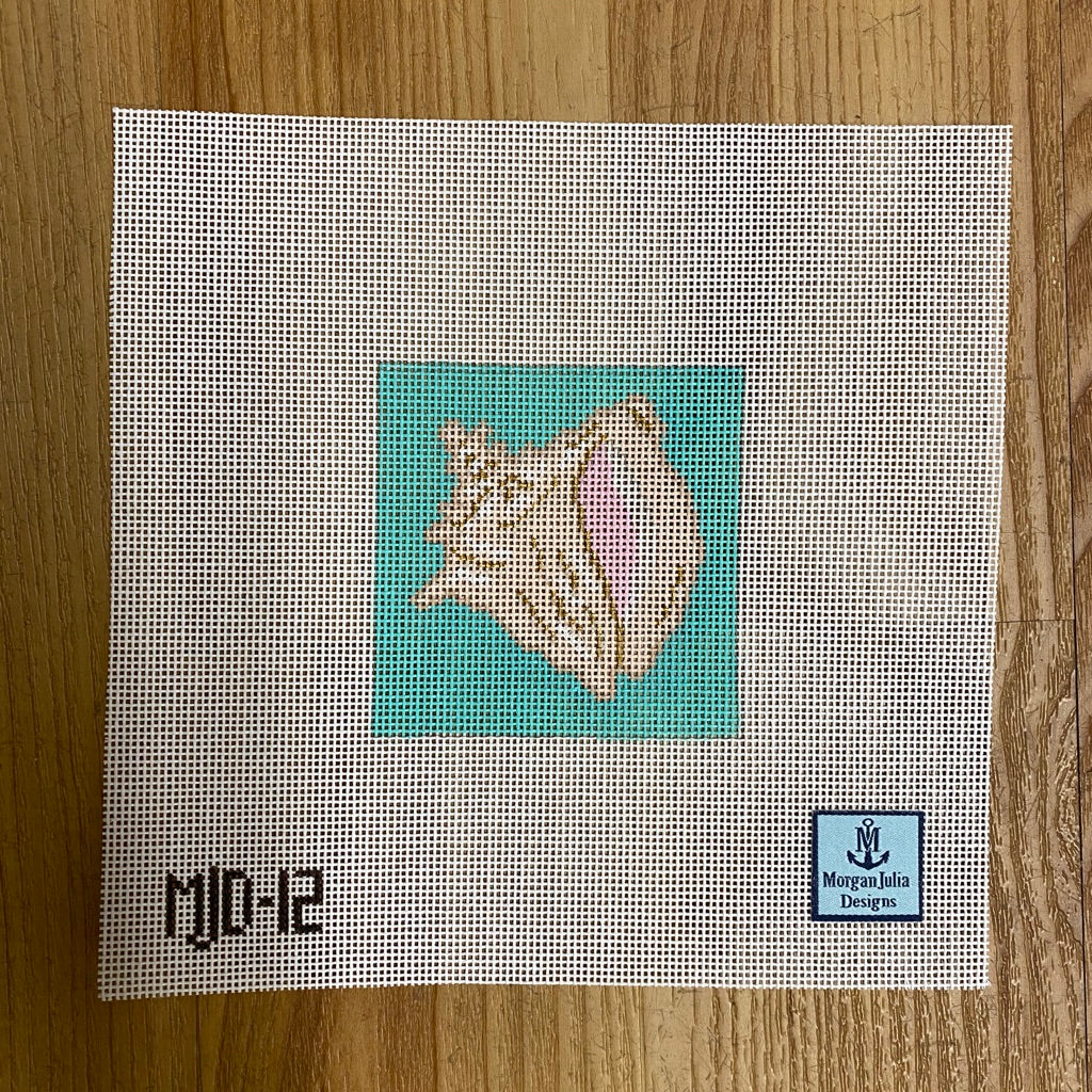 Conch Shell Canvas - needlepoint