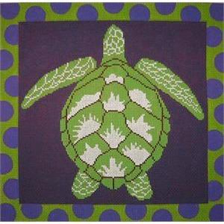 Turtle Needlepoint Canvas-Needlepoint Canvas-The Point of It All-KC Needlepoint