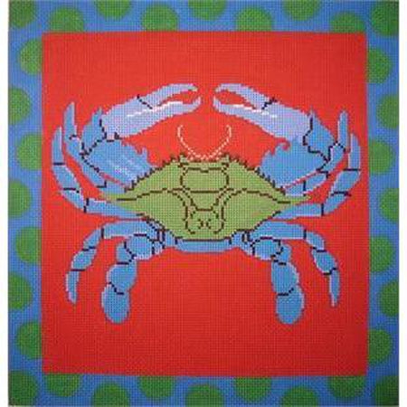Crab Needlepoint Canvas-Needlepoint Canvas-The Point of It All-KC Needlepoint
