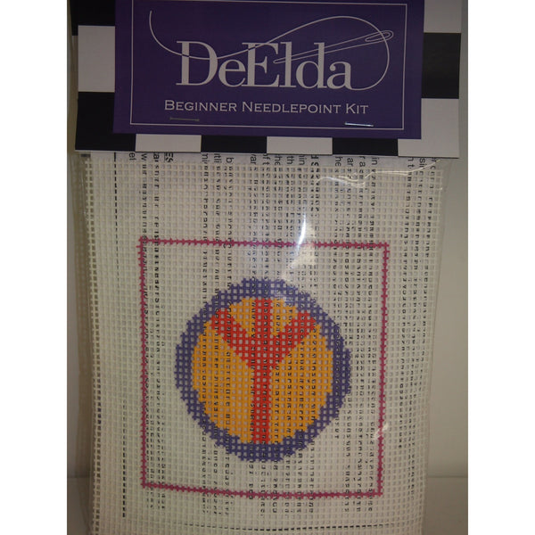 DeElda Peace Sign Kit - needlepoint