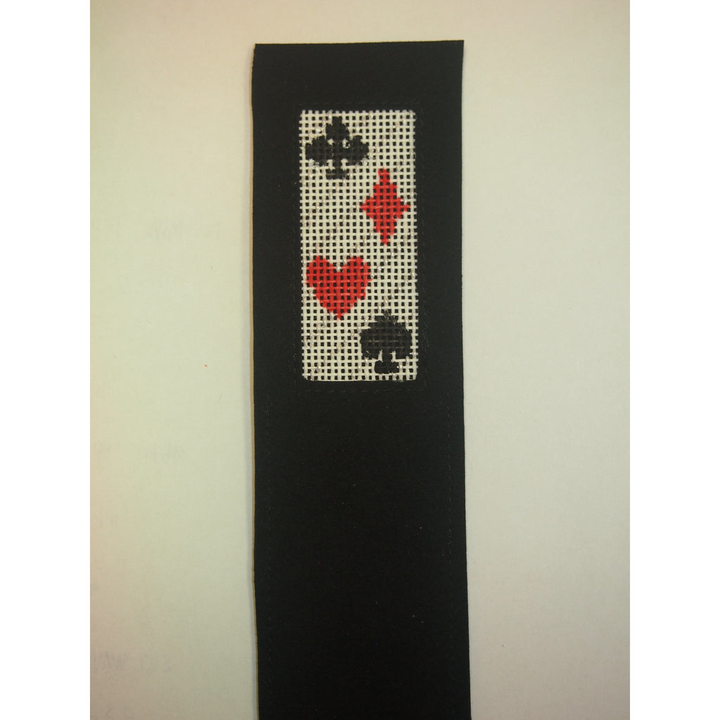 Card Suits Bookmark - needlepoint