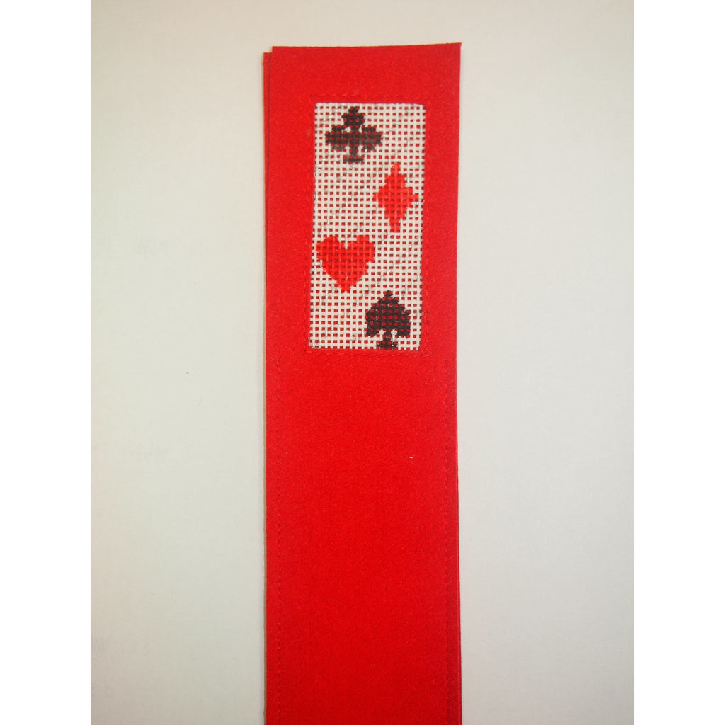 Card Suits Bookmark-Accessories-Anne Brinkley Designs-KC Needlepoint