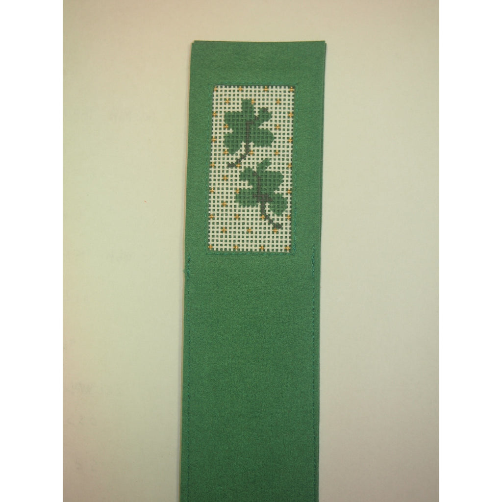 Shamrocks Bookmark-Accessories-Anne Brinkley Designs-KC Needlepoint