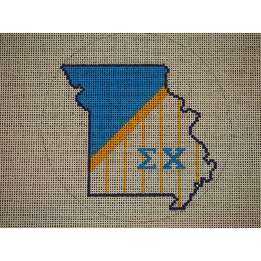 Missouri Sigma Chi Canvas - needlepoint