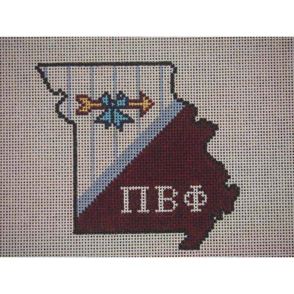 Missouri Pi Beta Phi Canvas - needlepoint