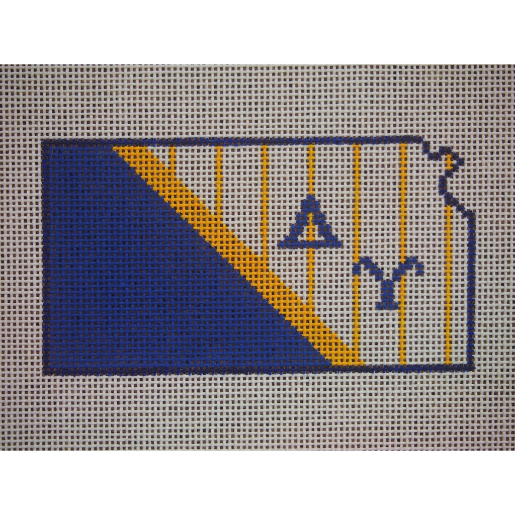 Kansas Delta Upsilon Canvas - needlepoint