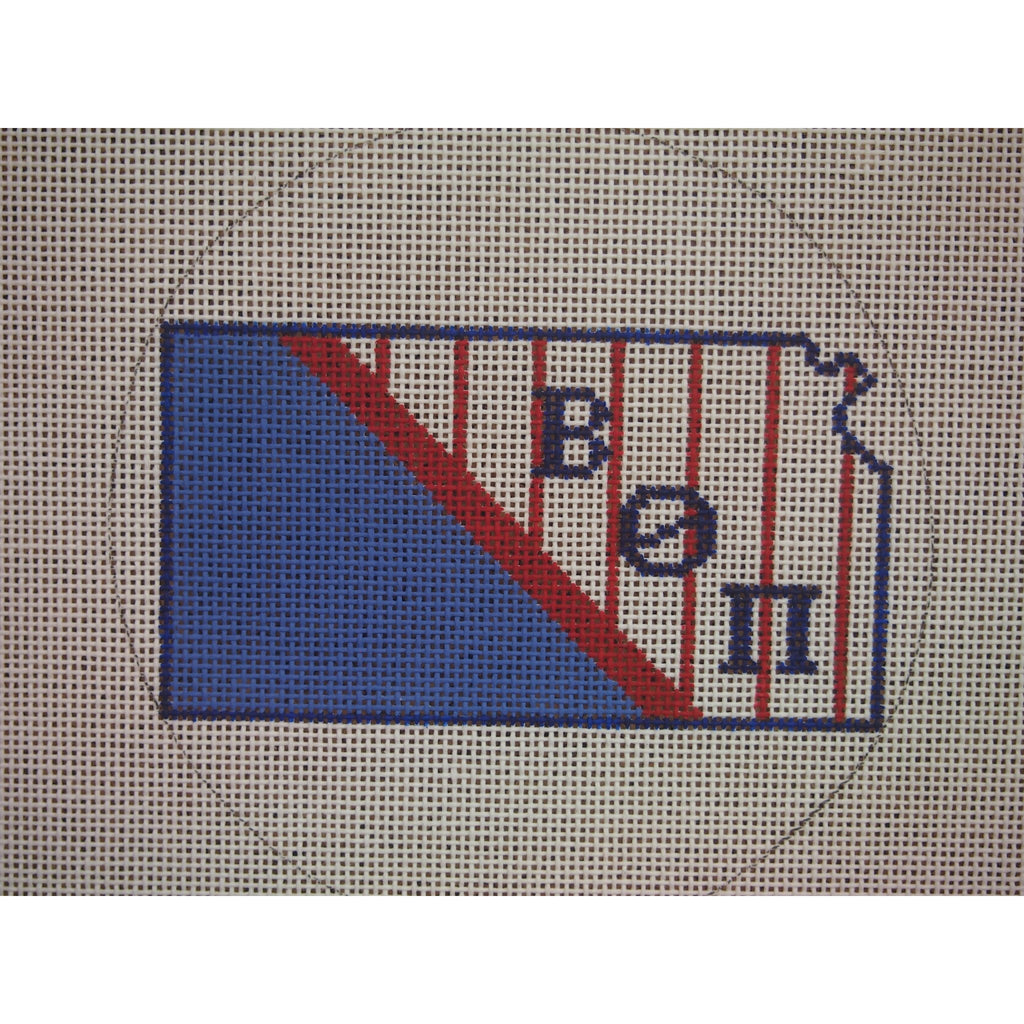 Kansas Beta Theta Pi Canvas - needlepoint