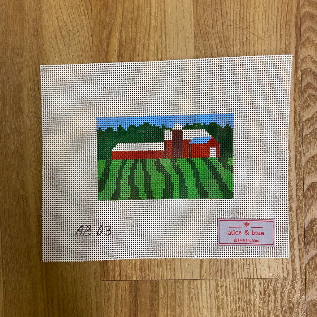 Vermont Pastoral Mini Canvas - KC Needlepoint