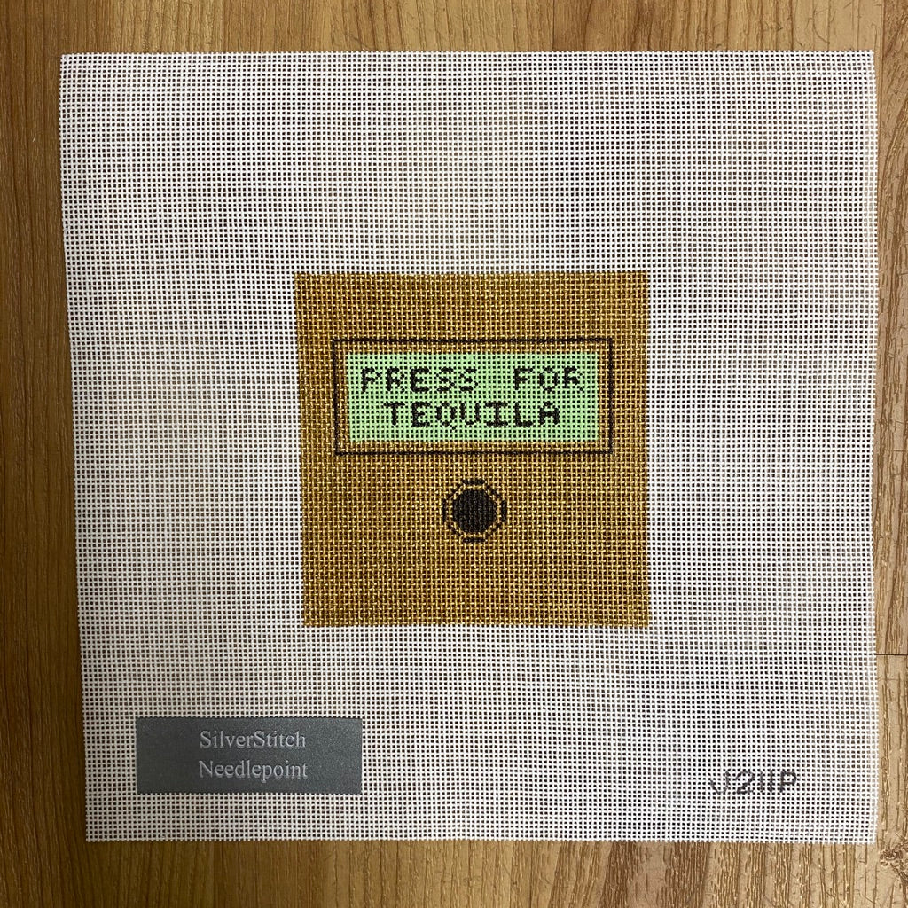 Press for Tequila Canvas - needlepoint