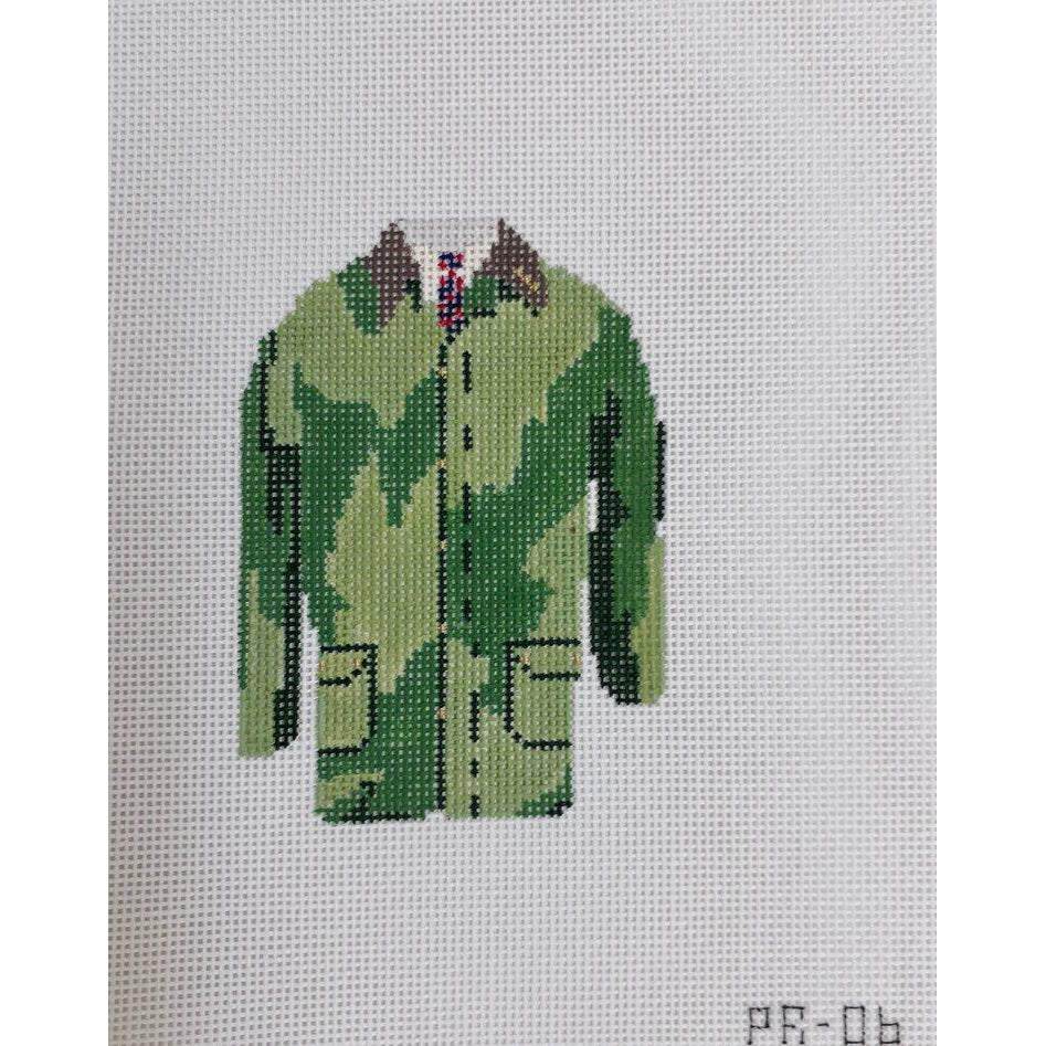 Barbour Field Coat Canvas-Needlepoint Canvas-Pip and Roo Needleworks-KC Needlepoint
