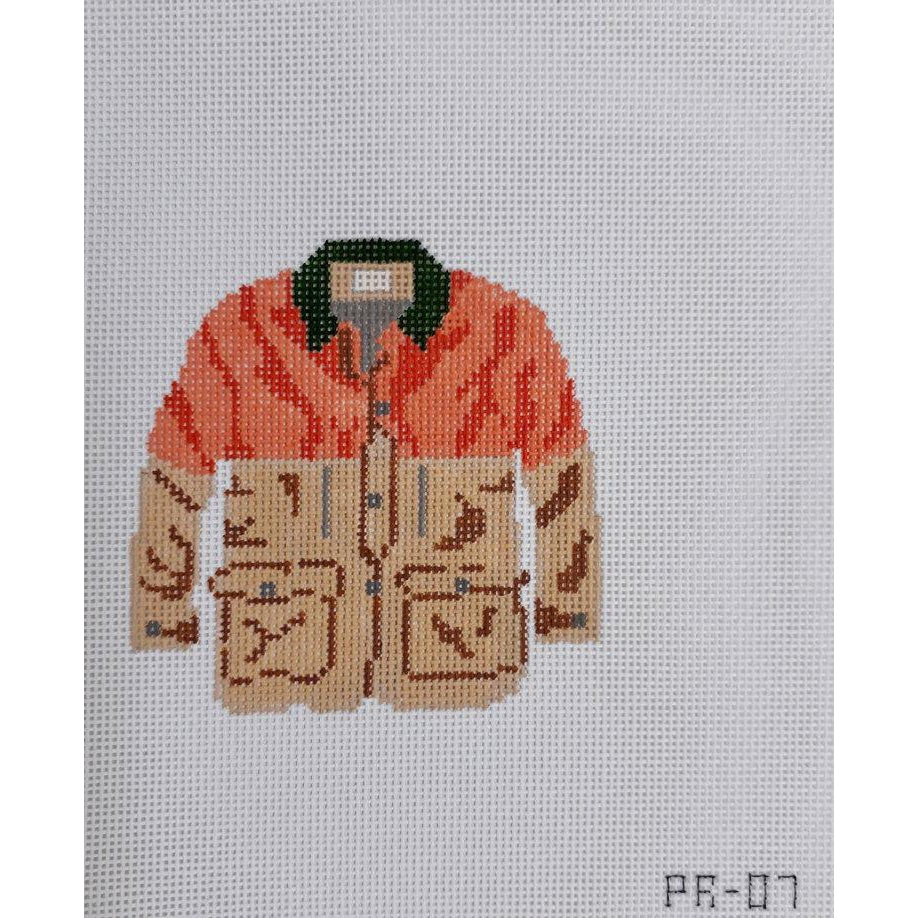 Hunting Coat Canvas - needlepoint